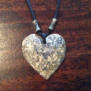 Jewelry - ☔️ Heart Pendant Necklace & Earrings